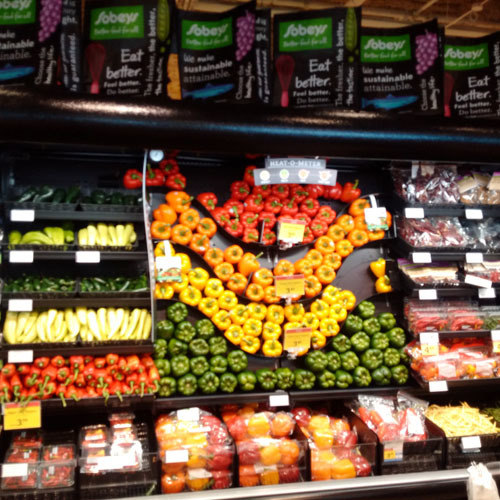 Sobeys signature display welcomes visitors