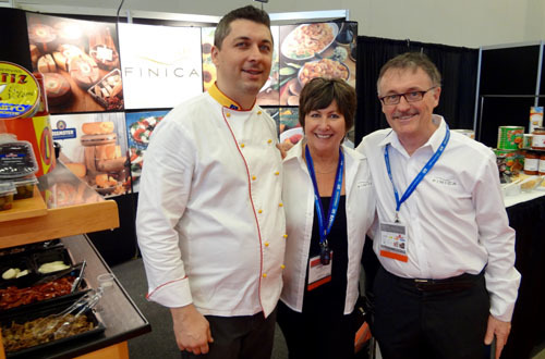 Chef Maurizio Ferrari, Christine Tos, Paul Blake, Finica Food Specialties