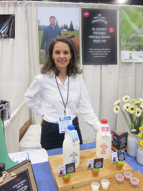 Valerie Fabre with the just launched Happy Planet Creamery products