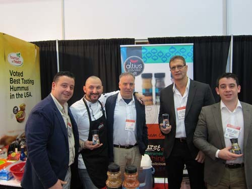 Michael Georgacopoulos Chef John Zoumis Laurence Bloom Costa Arkalis and Mark Georgacopoulos Altius Spices and Seasoning
