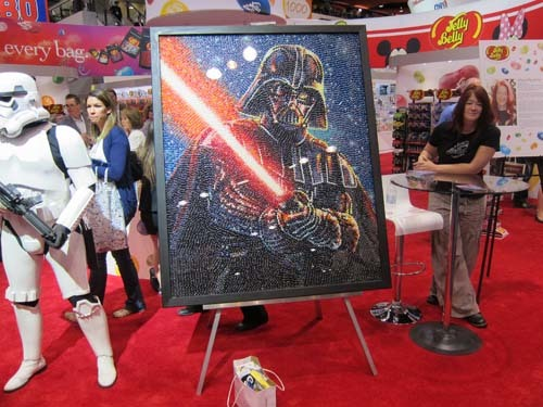 Star Wars art made from Jelly Belly beans