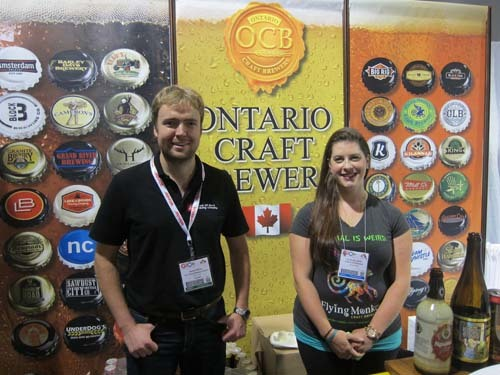 Darren Smith, Lake of Bays Brewing Company and Emily MacLellan, Flying Monkeys Craft Brewery
