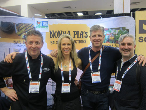 Norm and Natasha Strim, Nonna Pias Gourmet Sauces, with Peter Neal, Neal Brothers and Nicholas Reichenbach, Flow Water