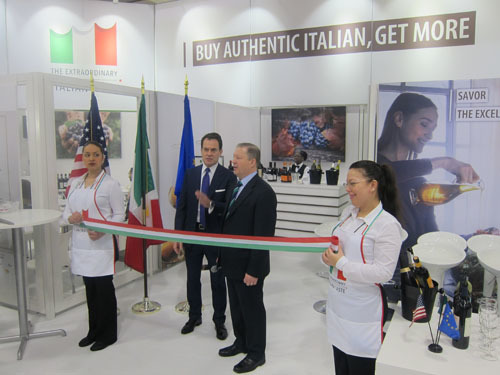 Opening Ceremonies at Winter Fancy Food Show with country partner Italy