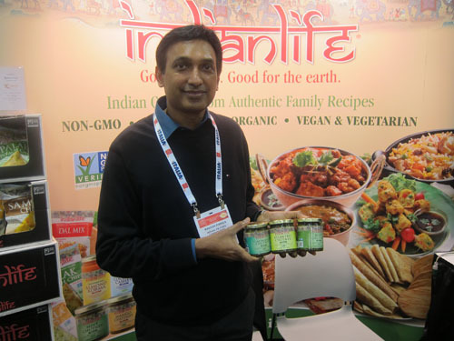 Rakesh Raniga with new Mint, Cilantro, and Cliantro & Mint Chutney, Indian Life