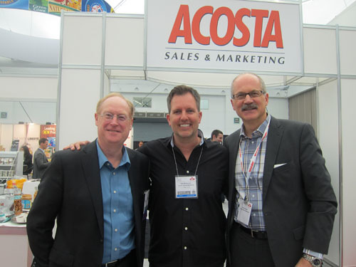 Tom Shurrie with Rob Mortenson and Brent Scowan - Acosta Sales and Marketing