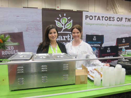 Lisa Kacur with Corporate Chef Carla Iwasiuk - Earth Fresh Foods