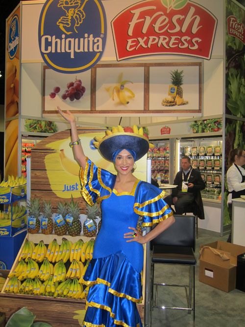 The colourful Chiquita booth