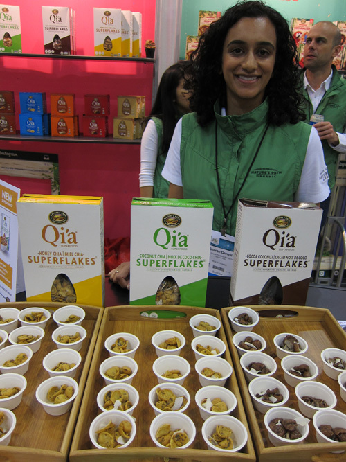 Sharon Grewal with new Qia Super Flakes Cereal from Nature's Path 2