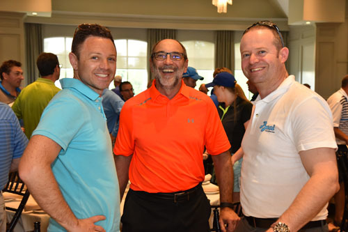 Jim Slomka of Clorox (centre) with Mario Corrente and Joe DAngelo, Aurora Importing and Distributing