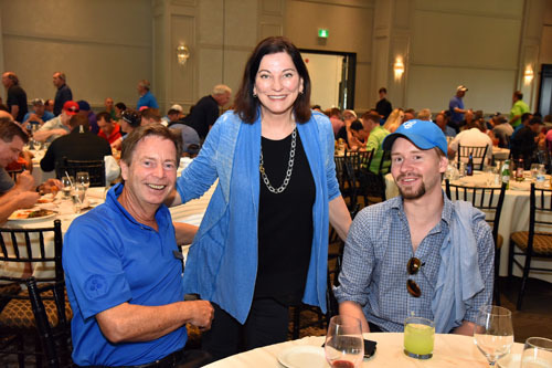 Kevin Smith, Karen James and Mathew Smith of Grocery Business magazine