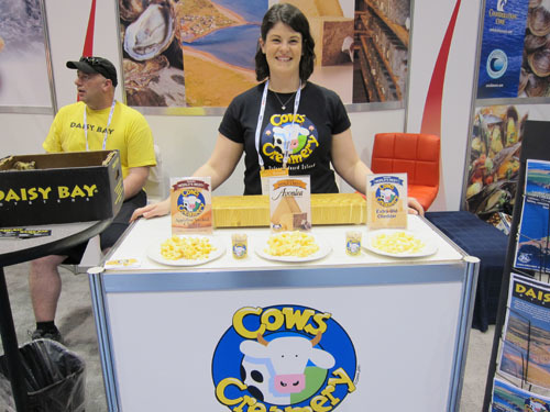Whitney Hooper with Cows Creamery Award Winning Cheeses