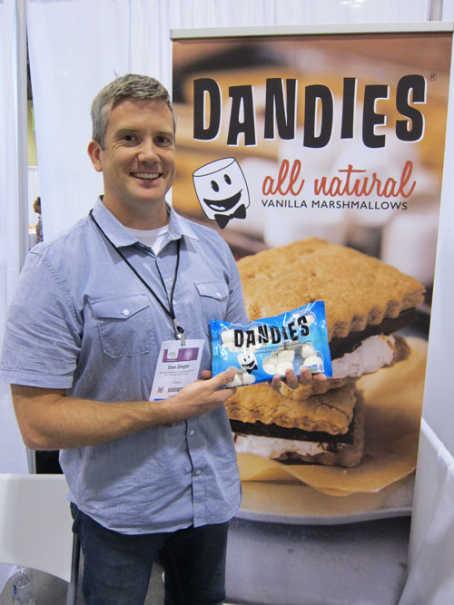 Dan Ziegler with the all Natural Marshmallow from Chicago Vegan Foods