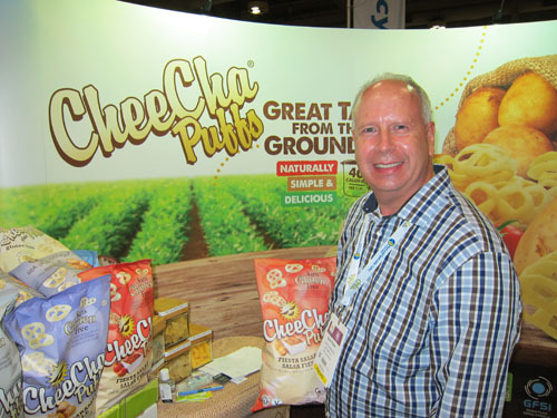 Dave Pullar with CheeCha Puffs from CadCan Marketing and Sales