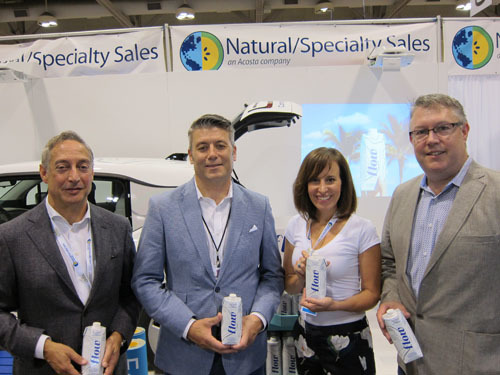 Jon Cohn of Natural-Specialty Sales Canada with Michael Lines and Lindsay Wells-Flow Water and Brian Jackson Acosta-Natural Specialty Sales Canada