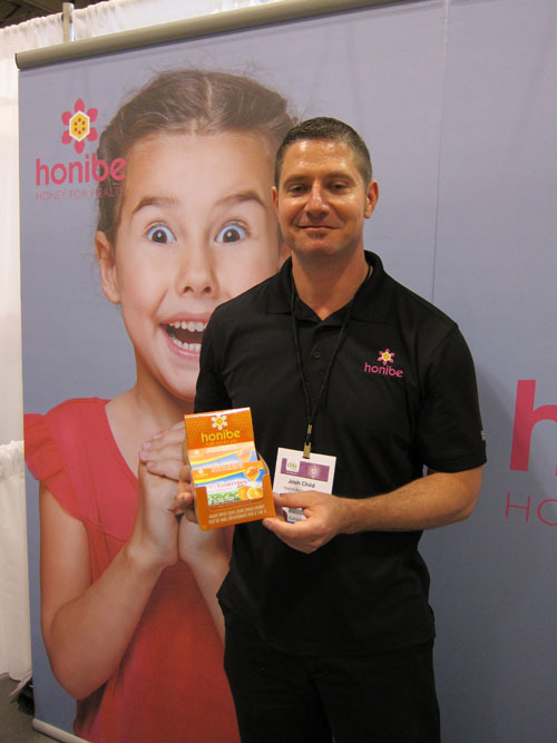 Josh Child with new Vitamin C Pure Honey Lozenges from Honibe