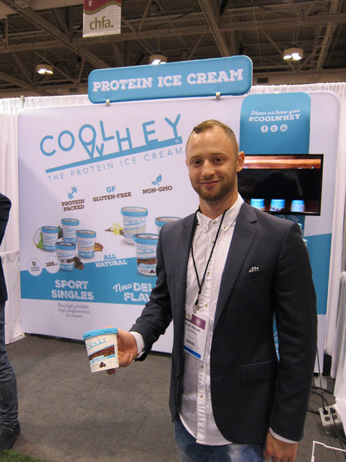 Noah Bernett with new Light High Protein Ice Cream from Cool Whey