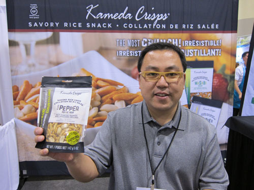 Taco Yasumaru with Kameda Crisps from Kameda USA Inc