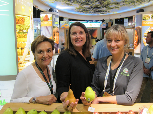 Betty Arellano with Kathy Stephenson and Julia Smith - USA Pears