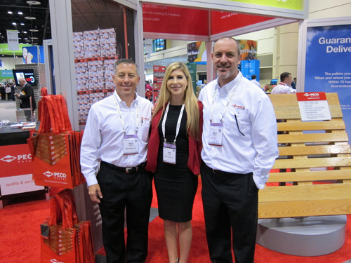 Dave Casarez with Tara MacNeil and Spero Moukas - PECO PALLET