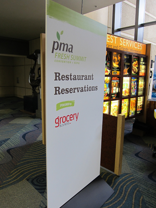 Grocery Business sponsor of the Fresh Summit restaurant reservations