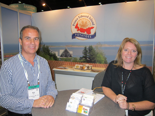 Rick Burt of Mid-Isle Farms and Kendra Mills - Prince Edward Island Potato Board