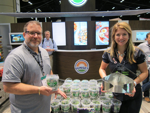Scott Kress and Mallory Flanders with the Impact Award winning Dill-it-Yourself Kit