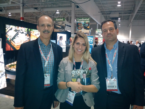 Domenic Calce and Domenic Duronio - Metro Inc. with Maria Proulx of Grocery Busiiness