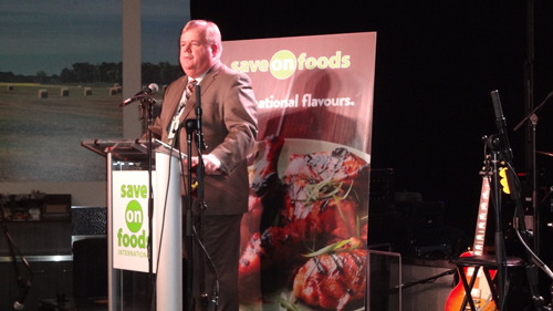 Darrell Jones - Overwaitea Food Group - officially opening the store and welcoming guests