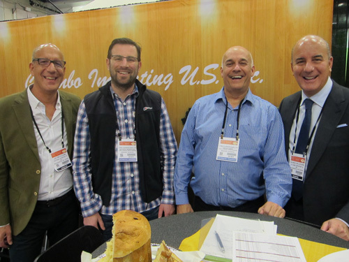 Art Pelliccioine, Jan. K. Overweel with Matt Farebrother and Martin Harris, Long Clawson Dairy and Patrick Pelliccione, Jan K Overweel