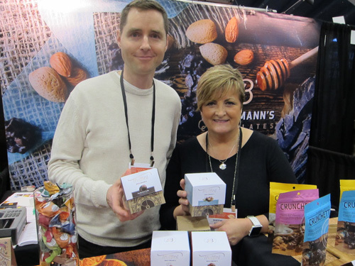 Colin Mountain and Sheena Quish with new Truffini Chocolate Truffles from Brockmann