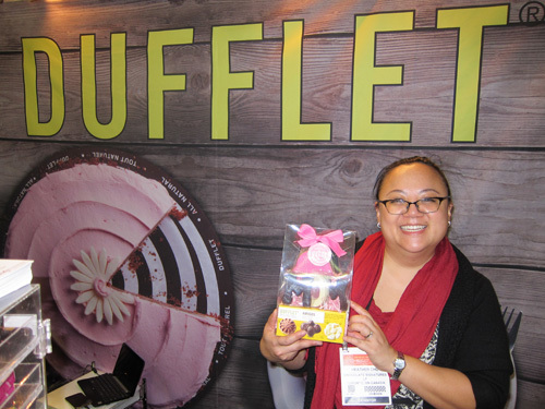 Heather Chu with the new Dufflets Chocolate Mom Package