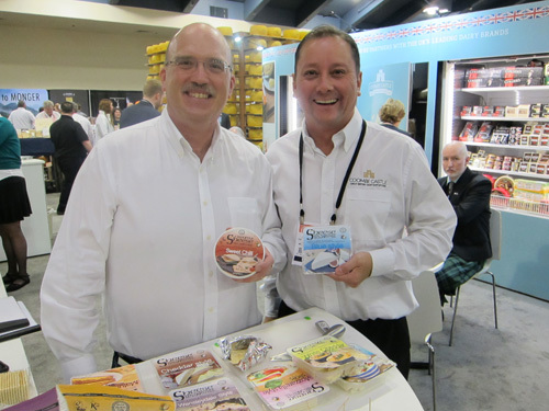 Jim Kavanagh, Brandseed Marketing and Darren Larvin - Coombe Castle and the new 100% Dairy Free Creamy Sheese
