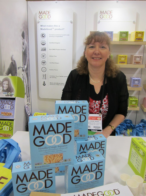 Leanne Sears with the newly launched Made Good Vanilla Crispy Squares