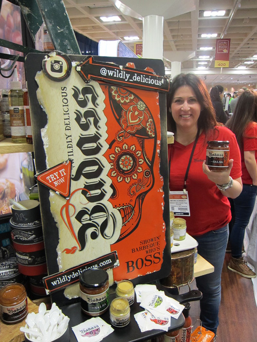 Michelle Muscat with new Badass Sauces and Salsas from Wildly Delicious