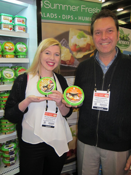 Melissa Thompson and Frank Kamberaj with new Summer Fresh French Onion and Ranch Dips
