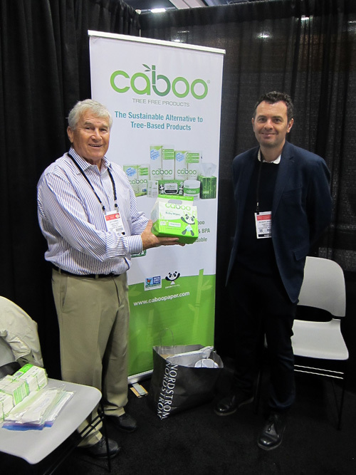 Roy Fanning and Albert Addante with Caboo natural Bamboo Paper Products
