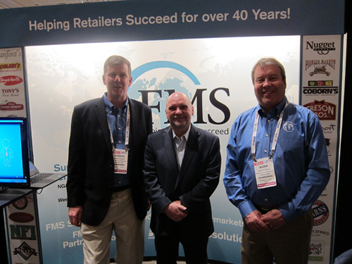 Tom Barlow, CFIG (centre) with Bob Graybill (left) and Mark Ehleben (right) FMS Solutions