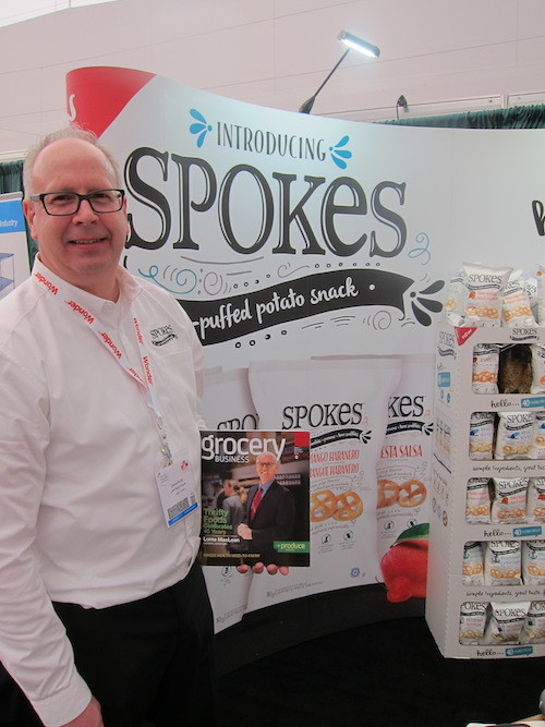 Dave Pullar with the award winning Spokes brand of snacks