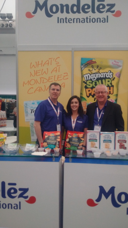 Ian Mills with Lianne Laurin and Rob Ringwald - Mondelez