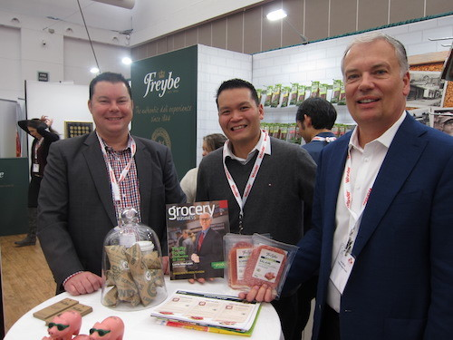 Jason Lemoine with Bevin Wong and Ken White - Freybe Gourmet Foods