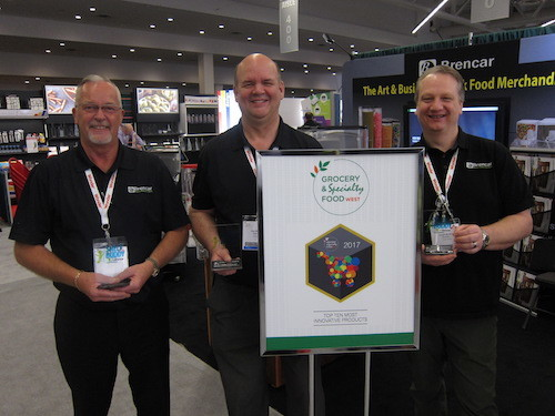 Stu Spear Don Watson and Dwight Murton with Shelf Buddy - one of the 10 most innovative products