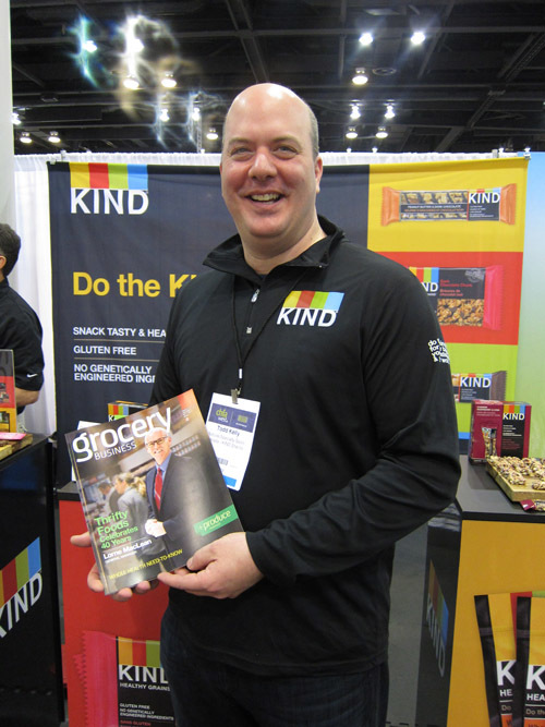 5000 bars and counting - Thats how many bars Todd Kelly and his team from Kind Healthy Snacks handed out at the show