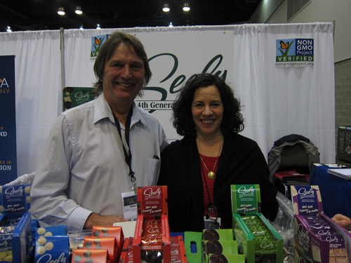 Mike Seely and Chef Pola at the Seely Mint booth