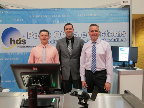 Andrés Camero with Jamie Somers and Paul Howell of Howell Data Systems