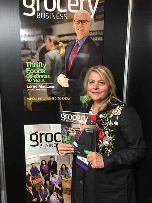 Mary Dalimonte, Sobeys, at the Grocery Business booth