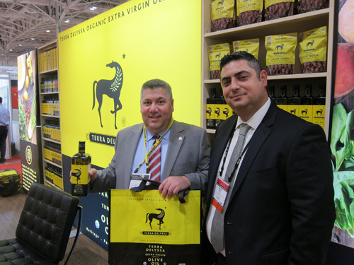 Stephen Wise and Wajih Rekik of CHO America - blanketed the show with thousands of bright yellow shopping bags