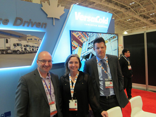 Steve Brennan with Alicia Donnelly and Ian Sinclair - VersaCold Logistics Services