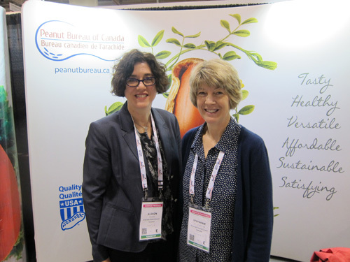 Alison George, Peanut Bureau of Canada with Stephanie Grunenfelder, American Peanut Council