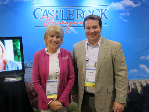 Castle Rock Vineyard's Laura Berryessa and Steven Shearer